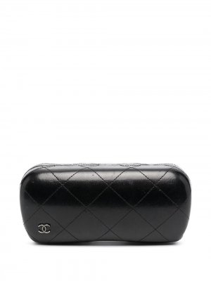 Стеганый чехол для очков 2000-х годов с логотипом CC Chanel Pre-Owned. Цвет: черный