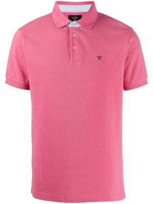 Рубашка-поло с вышитым логотипом Hackett. Цвет: розовый