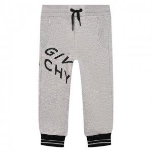 Хлопковые джоггеры Givenchy. Цвет: серый