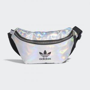 Сумка на пояс Metallic Originals adidas. Цвет: серебристый
