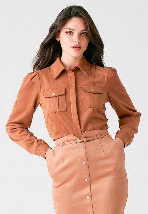Блуза Love Republic. Цвет: коричневый
