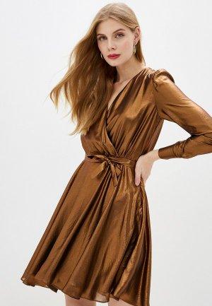 Платье Alessandro DellAcqua Dell'Acqua. Цвет: коричневый