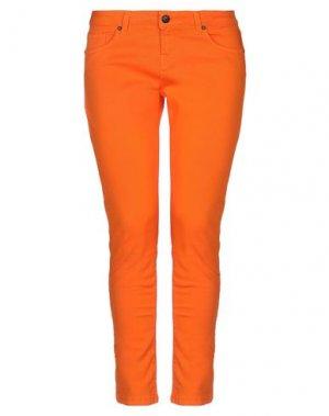 Джинсовые брюки UP ★ JEANS. Цвет: оранжевый