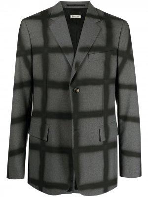 Однобортный пиджак в клетку Marni. Цвет: серый