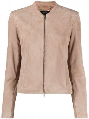 Куртка без воротника Arma. Цвет: серый