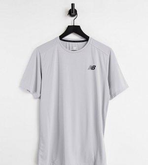 Светло-бежевая футболка с коротким рукавом Running Accelerate – эксклюзивно для ASOS-Светло-бежевый New Balance