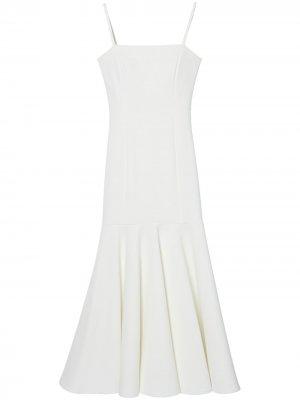 Расклешенное платье миди Carolina Herrera. Цвет: белый