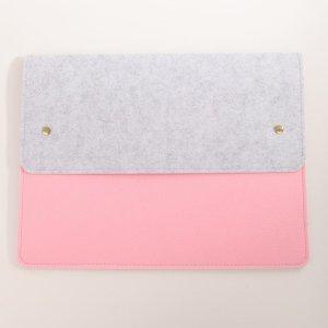Фетровая сумка для ноутбука 13 дюймов SHEIN. Цвет: розовые