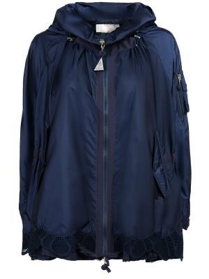 Куртка-ветровка Moncler. Цвет: синий