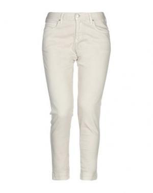Джинсовые брюки-капри MASSIMO ALBA. Цвет: бежевый