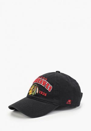 Бейсболка Atributika & Club™ Chicago Blackhawks. Цвет: черный