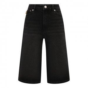Джинсовые шорты Ganni. Цвет: серый