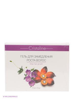 Гель, замедляющий рост волос Cristaline, 10мл х 10шт CRISTALINE. Цвет: фиолетовый
