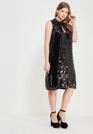 Платье LOST INK PLUS PREMIUM MINI DRESS IN GEO SEQUINS. Цвет: черный