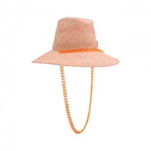 Шляпа Straw Maison Michel. Цвет: розовый