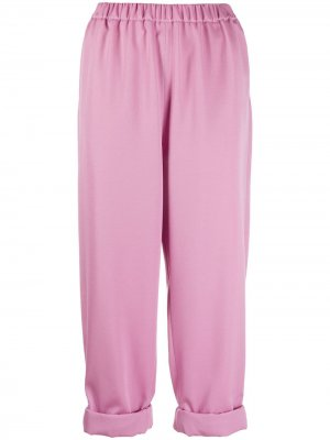 Укороченные спортивные брюки Rochas. Цвет: розовый