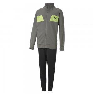 Детский спортивный костюм Poly Suit PUMA. Цвет: серый