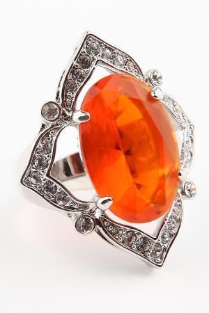 Кольцо Slava Zaitsev. Цвет: серебро, оранжевый