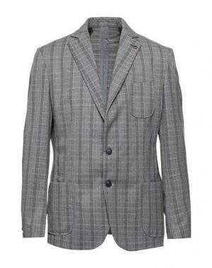 Пиджак BESILENT. Цвет: серый