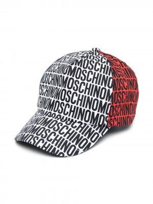Бейсболка с логотипом Moschino Kids. Цвет: черный