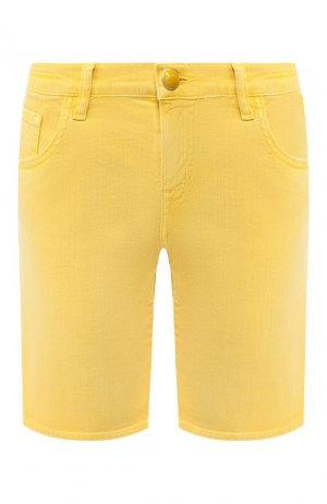 Джинсовые шорты Jacob Cohen. Цвет: желтый