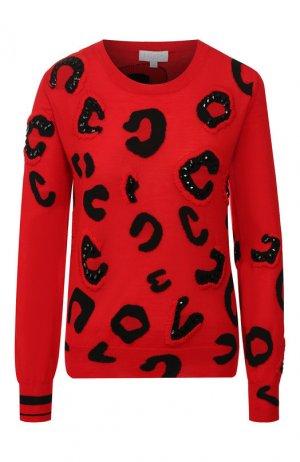 Шерстяной пуловер Escada Sport. Цвет: красный
