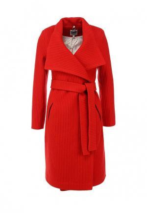 Пальто Libellulas. Цвет: красный
