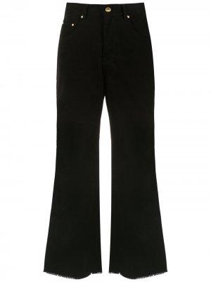 Расклешенные джинсы Amapô. Цвет: черный