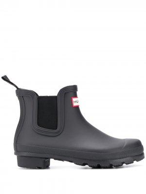 Резиновые ботинки челси Original Hunter. Цвет: черный