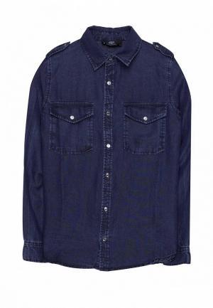 Рубашка джинсовая Le Temps des Cerises. Цвет: синий