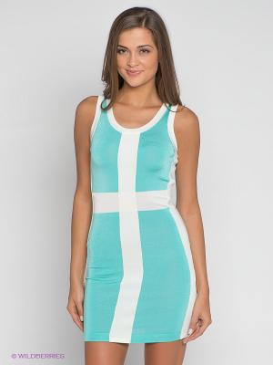 Платье Camelot. Цвет: бирюзовый, белый