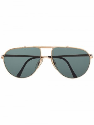 Солнцезащитные очки-авиаторы 1970-х годов Christian Dior. Цвет: золотистый