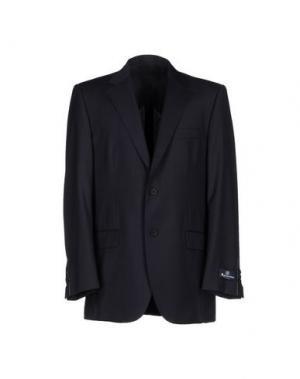 Пиджак AQUASCUTUM. Цвет: темно-синий