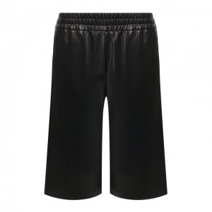 Кожаные шорты Brunello Cucinelli. Цвет: чёрный