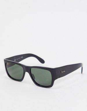 Черные квадратные солнцезащитные очки Rayban 0RB2187-Черный Ray-Ban