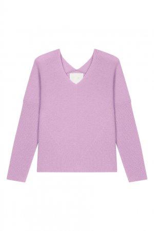 Пуловер из кашемира цвета лаванды Maje. Цвет: фиолетовый