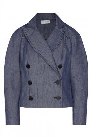 Сине-серая куртка из хлопка Chapurin. Цвет: синий