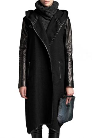 Пальто VESPUCCI BY VSP. Цвет: черный
