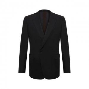 Шерстяной пиджак Ermenegildo Zegna. Цвет: чёрный