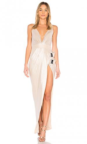 Вечернее платье do or die Zhivago. Цвет: металлический нейтральный