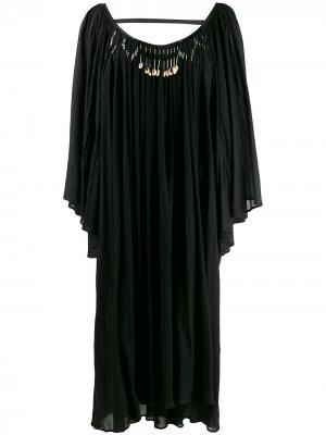 Декорированное платье-туника Giacobino. Цвет: черный