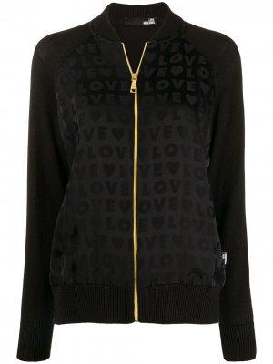 Куртка-бомбер с принтом Love Moschino. Цвет: черный