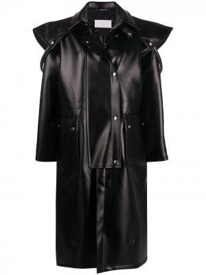 Пальто-кейп оверсайз Maison Margiela. Цвет: черный