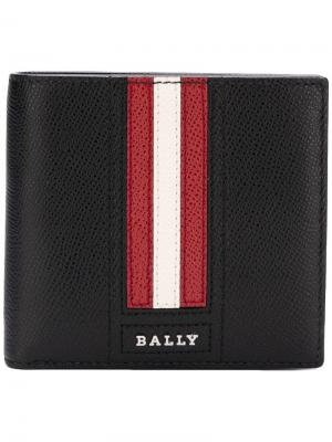 Logo stripe wallet Bally