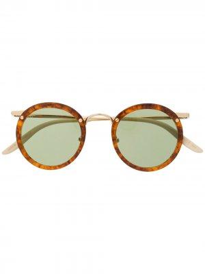 Солнцезащитные очки GG0674S в круглой оправе Gucci Eyewear. Цвет: нейтральные цвета