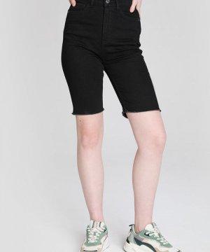 Джинсовые шорты-велосипедки O`Stin. Цвет: черный