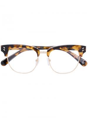 Очки в полуоправе Stella Mccartney Eyewear. Цвет: коричневый