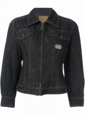 Джинсовая куртка на молнии Dolce & Gabbana Vintage. Цвет: чёрный