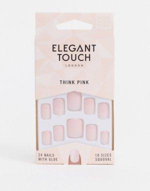 Накладные ногти Think Pink-Розовый цвет Elegant Touch