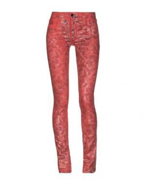 Джинсовые брюки 75 FAUBOURG. Цвет: красный